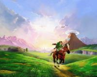 Big Poster The Legend Of Zelda Ocarina Of Time LO07 90x60 cm, usado comprar usado  Brasil